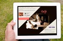 wordpress artist website design